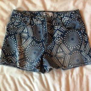 patterned jean shorts kids